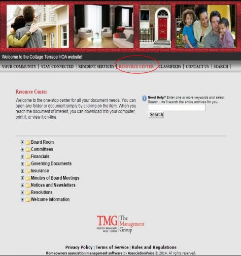 Homeowner association website