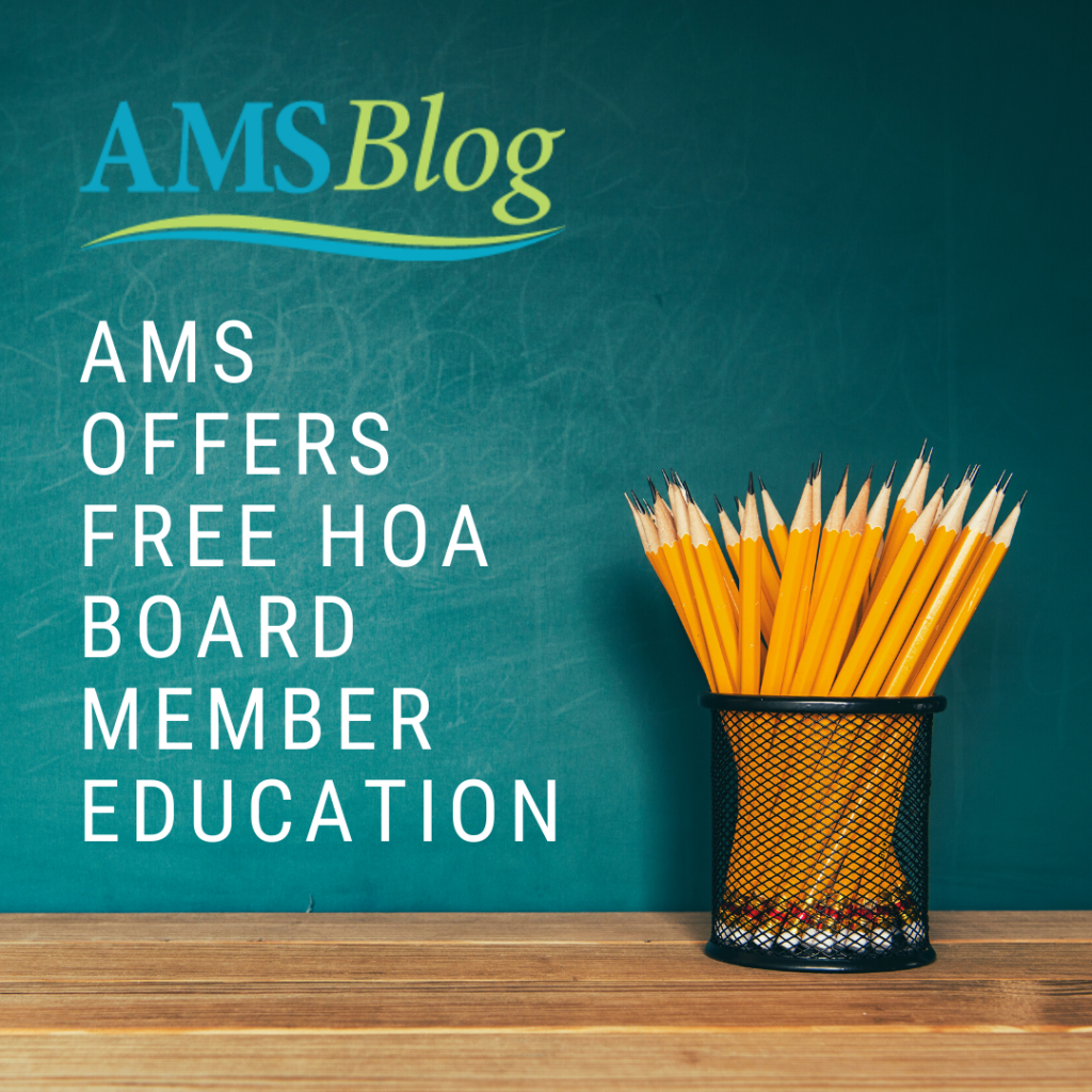 AMS Offers Free HOA Board Member Education