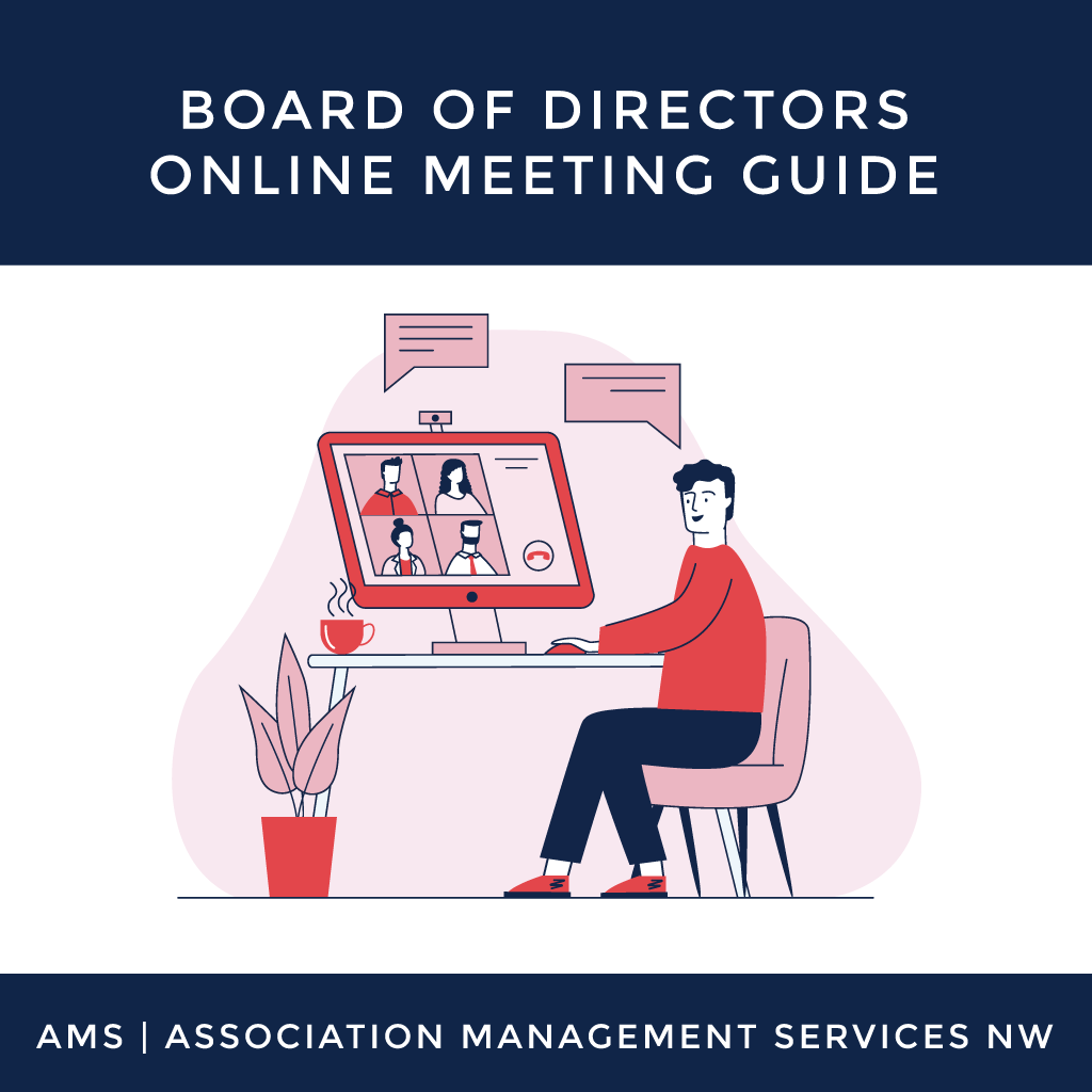 Board of Directors Online Meeting Guide Graphic