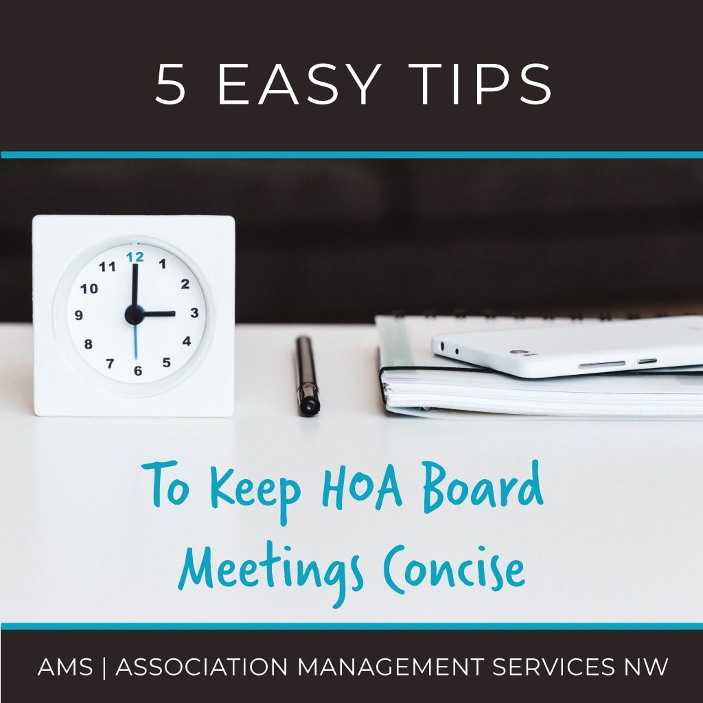 5 Easy Tips to Keep HOA Board Meetings Concise