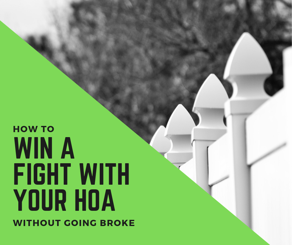 How to win a fight with your HOA without going broke